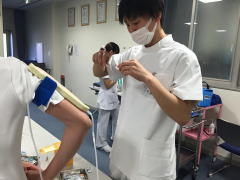 静脈採血と検体の取り扱いについての研修2