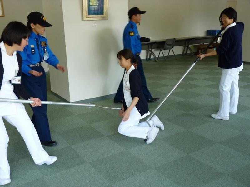 刺すまたを用いた訓練1