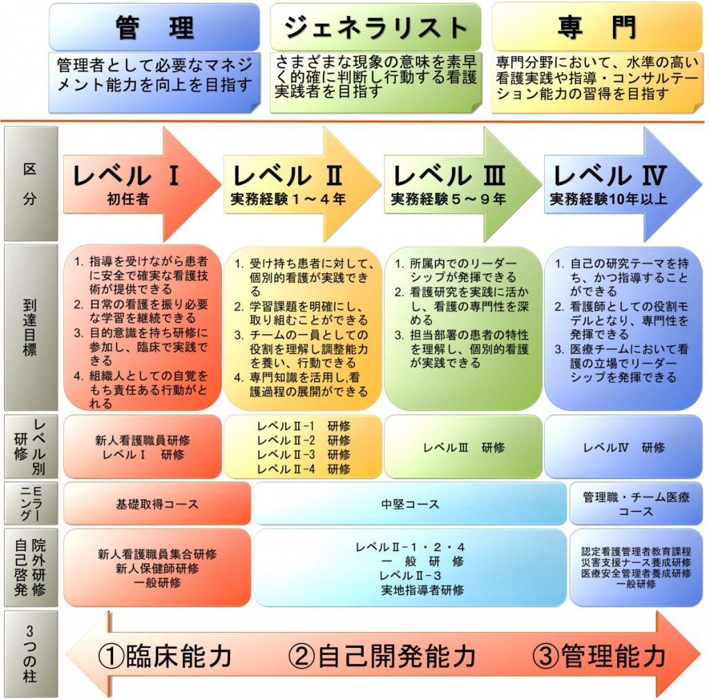 キャリア開発プログラム クリニカルラダー 説明図